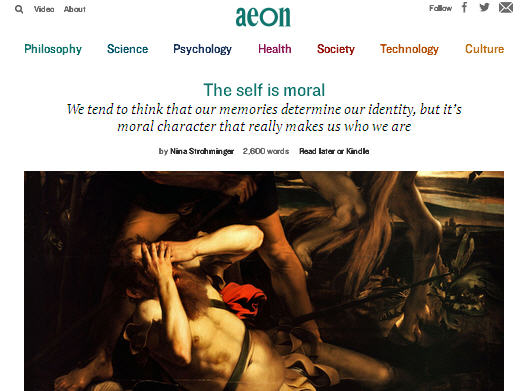 The self is moral